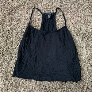 Forever 21 Black racer back tank top